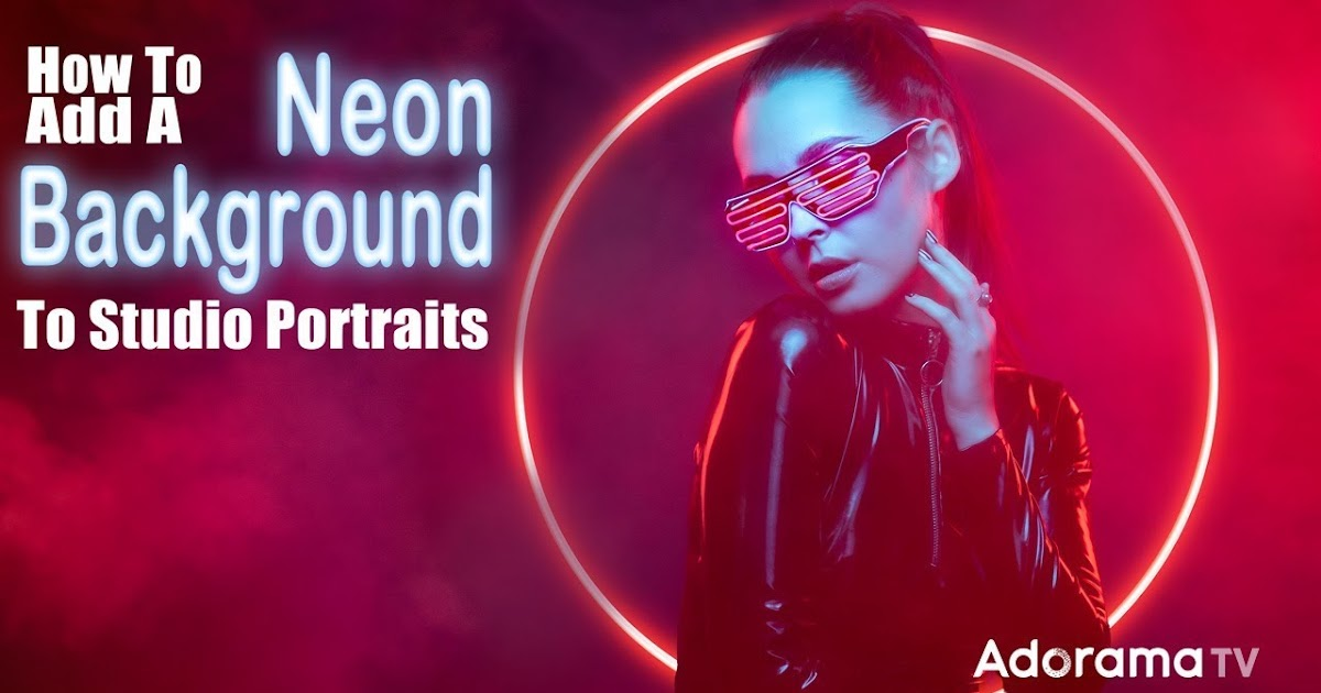 Studio Portraits with Neon Background Effects