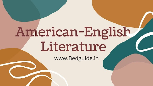 Important American-English Literature Authors List For UGC NET
