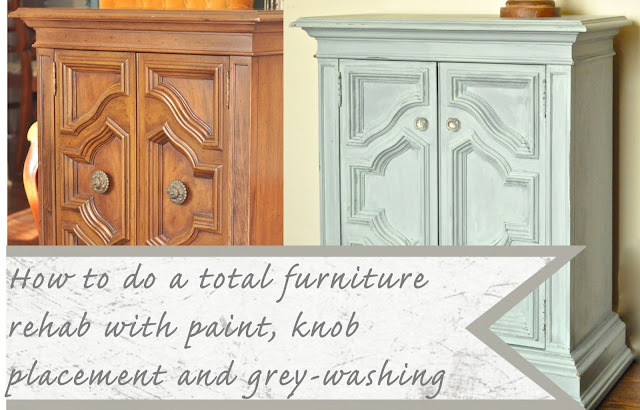 How to gray wash furniture tutorial