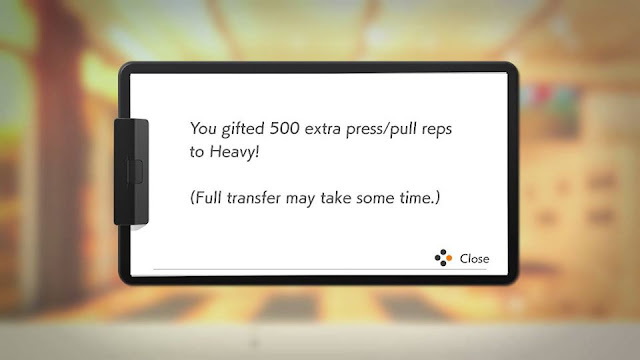 Ring Fit Adventure Multitask Mode gifted 500 extra press pull repetitions