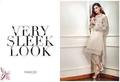 Very sleek look embroidered chiffon dress with chiffon dupatta