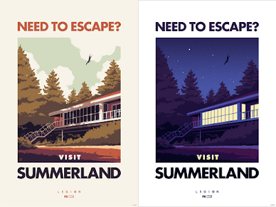 LEGION: Visit Summerland Day & Night Screen Prints by Phantom City Creative x Mondo