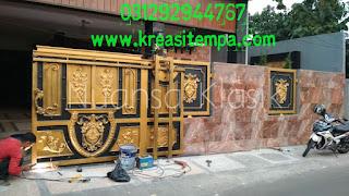 desain pagar klasik untuk rumah mewah