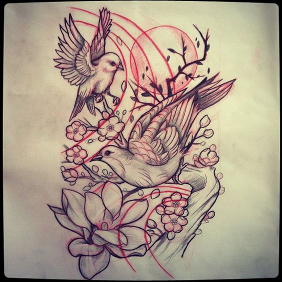 25 beautiful BIRD TATTOOS designs for WOMEN and MEN