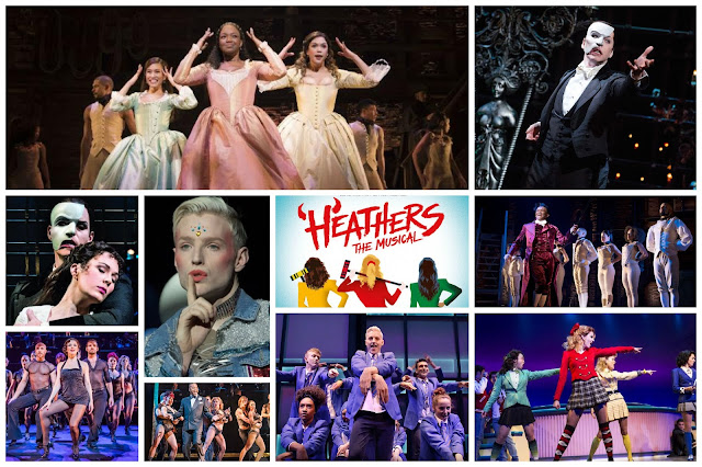 5 More West End Shows I'd Like To See including Hamilton, Heathers, The Phantom of the Opera, Chicago and Everybodys Talking About Jamie