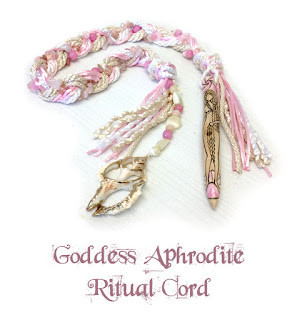 Goddess Aphrodite Ritual Cord from MoonsCrafts