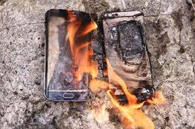 غالاكسي نوت 7 يحترق