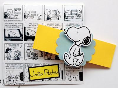 convite de aniversário infantil personalizado artesanal snoopy peanults charlie brown quadrinho desenho filme