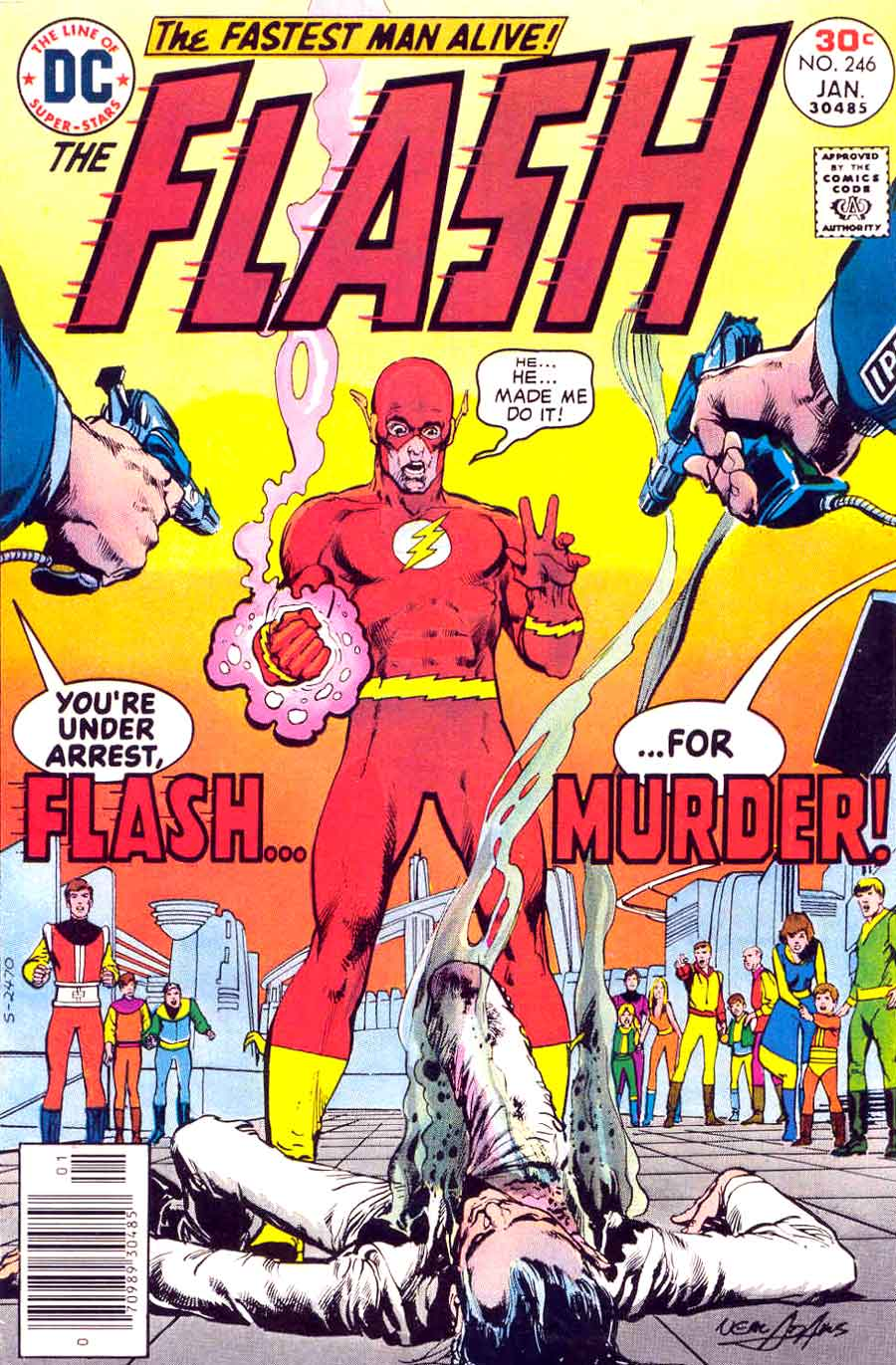The Flash v1 #246 dc comic book cover art by Neal Adams