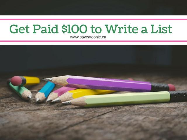 make money writing a list
