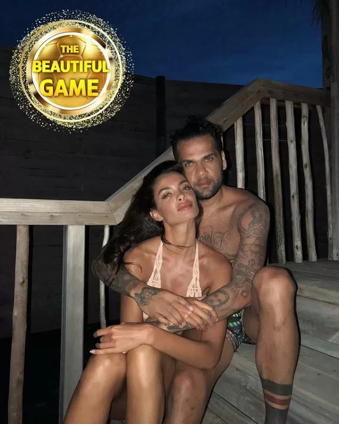 Alves' supermodel wife turned down TWO proposals before their secret wedding