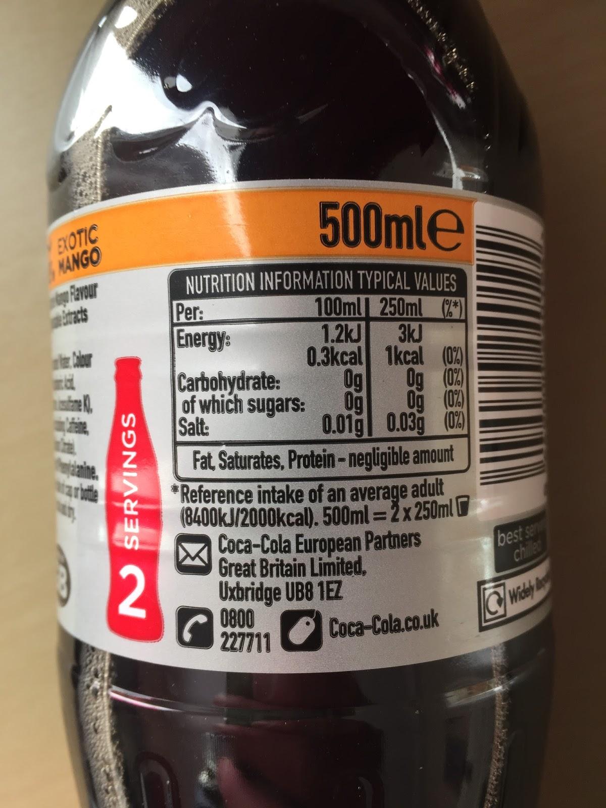 new diet coke exotic mango (uk)