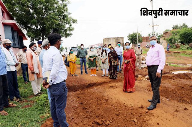 कलेक्टर ने किया पोहरी के निर्माण कार्यों का निरीक्षण / POHRI NEWS