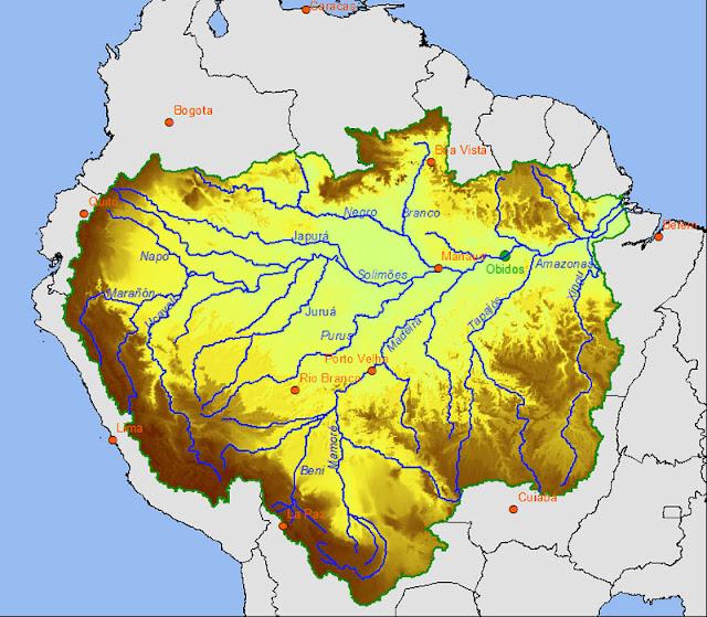 Gambar Peta Sungai Amazon