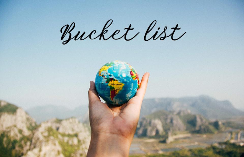 Bucket List, czyli lista rzeczy, które chcę zrobić przed śmiercią.