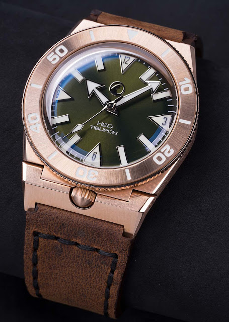 H2O Watch - H2O Tiburon Bronze with Green Dial