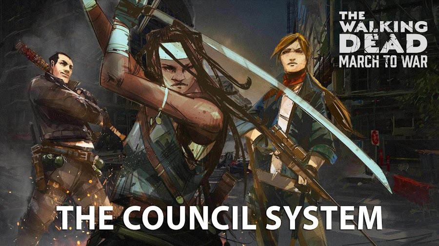 the walking dead march to war council system