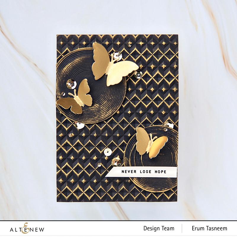 Altenew Angled Mosaic Embossing Folder | Erum Tasneem | @pr0digy0