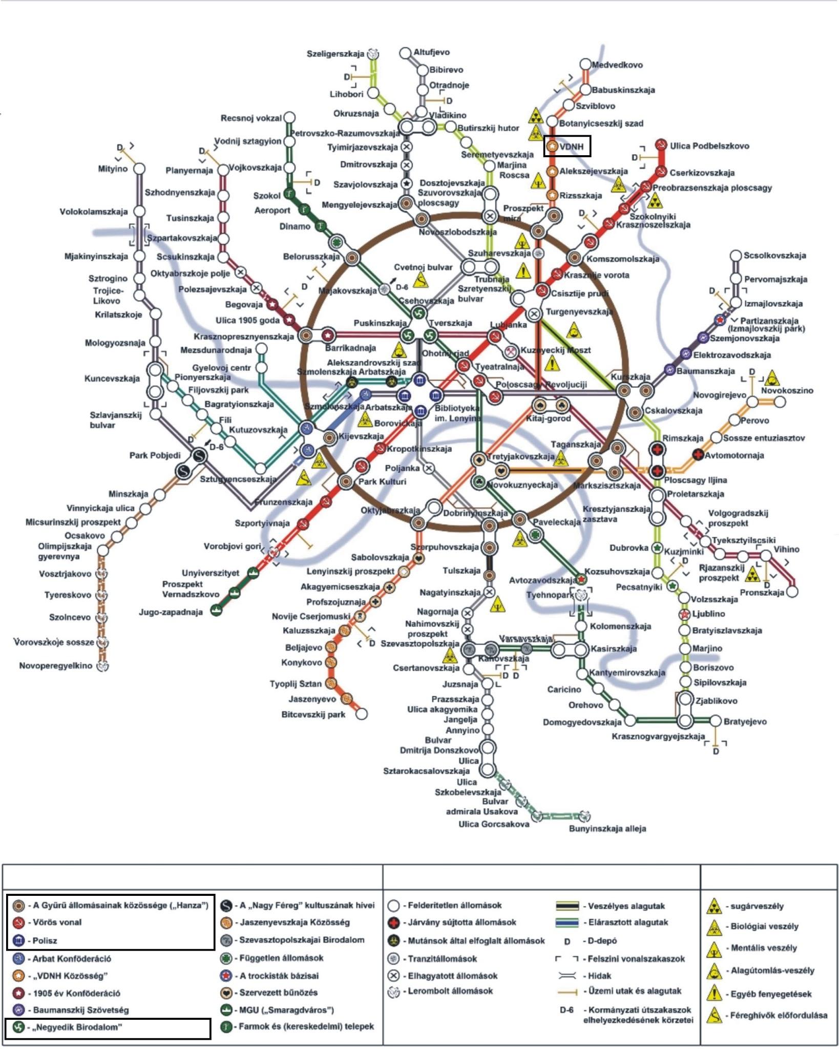Konyvsarok Terkep A Metro 2033 Cimu Konyvhoz
