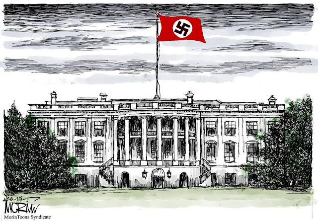 White House flying Nazi flag.