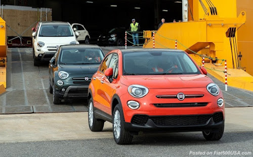 Fiat 500X arriving at Baltimore