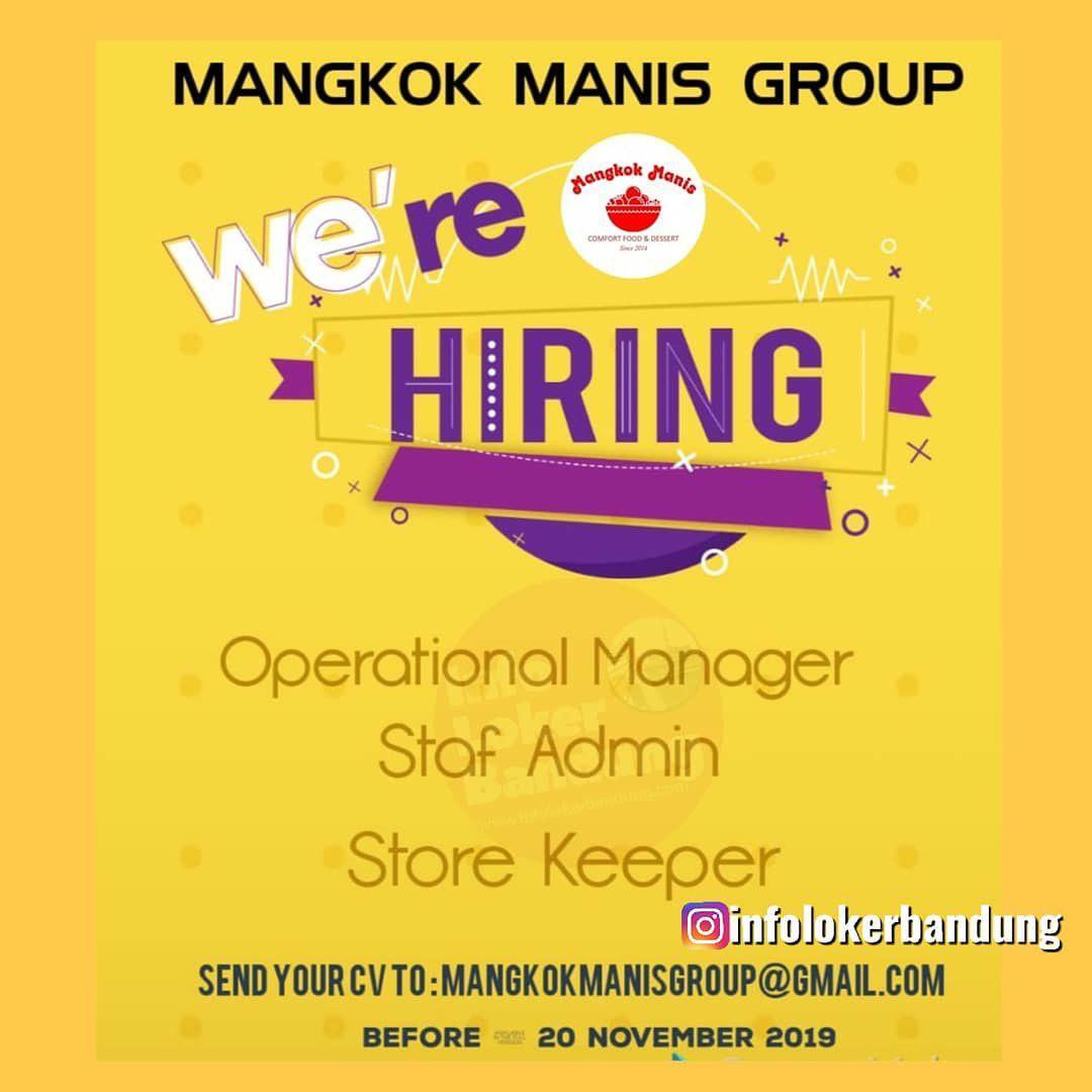 Lowongan Kerja Mangkok Manis Group Bandung November 2019