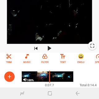 Add background music to WhatsApp status video
