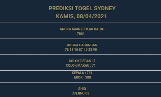 1 - PREDIKSI SIDNEY 08 APRIL 2021