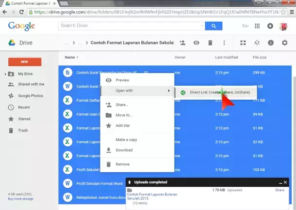 Google Drive - Open with Direct Link Creator
