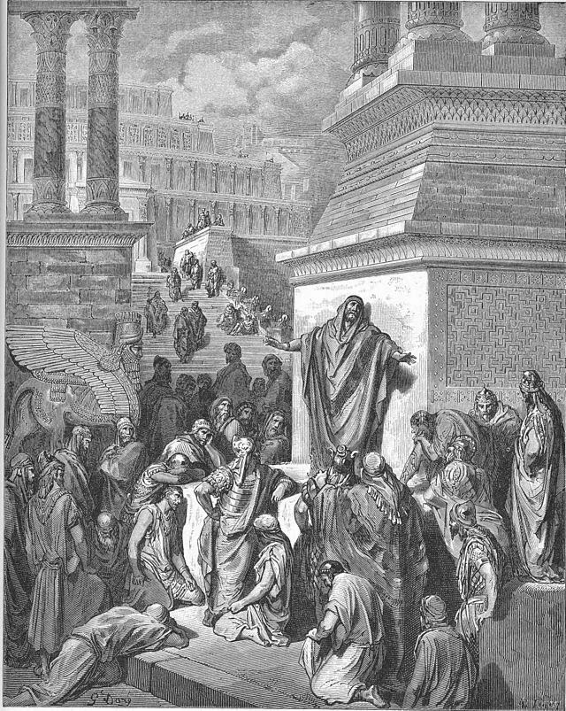 Jonah preaching to the Ninevites [Jonah Preaching to the Ninevites - source:wikipedia]