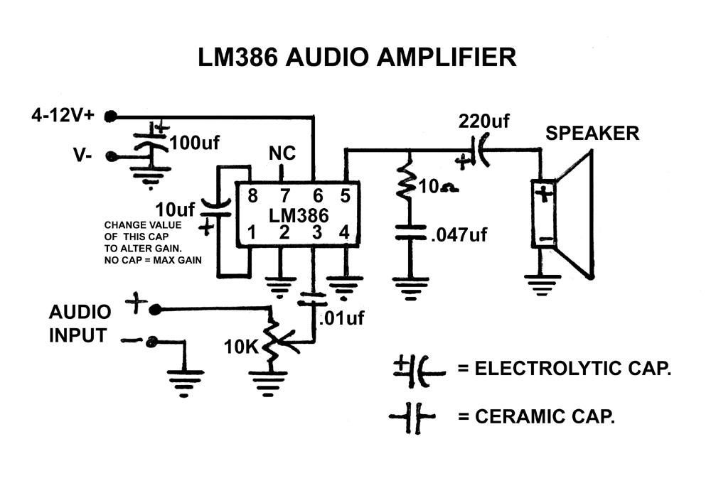 Circuitos com LM386 ~ Projetos Diy Faça Você Mesmo!