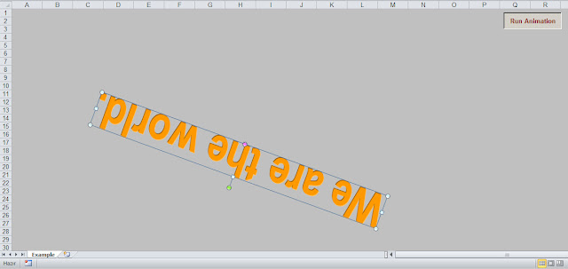 excel text animation