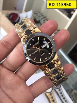 Đồng hồ đeo tay nam mặt tròn dây đá ceramic RD T13950