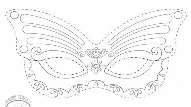 Máscara de princesa Sofia para imprimir y colorear 💎