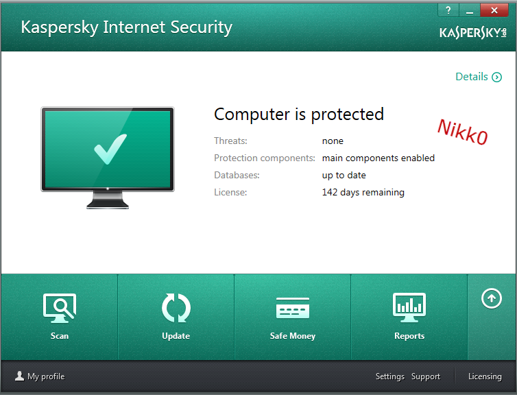 Kaspersky Antivirus Internet Security 2014 + Trail Reset + Keys 2 Free Download