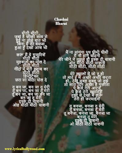 Chashni photo lyrics hindi
