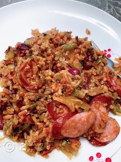 Smoked Sausage & Rice One Pot Meal