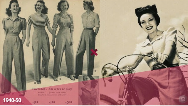 moda década de 1940