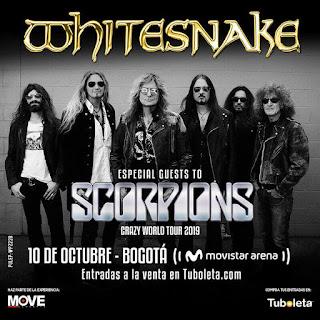 Concierto de WHITESNAKE en Bogotá + SCORPIONS