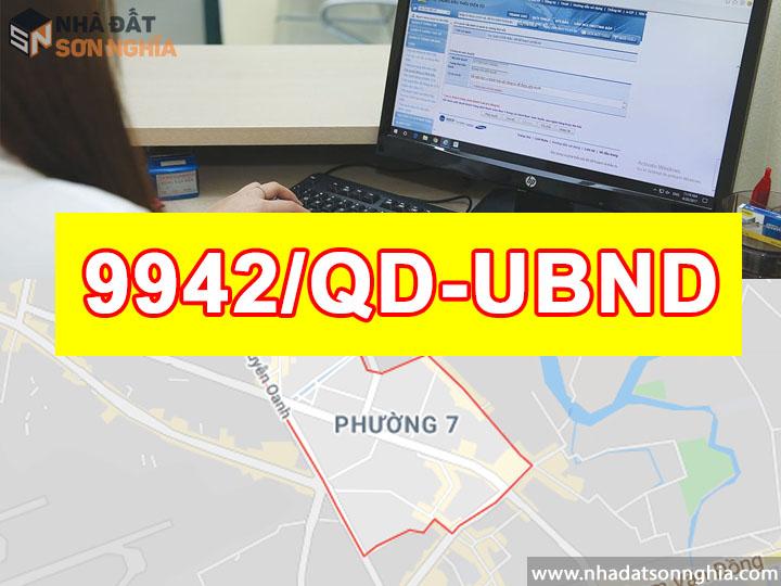 Quyết định số 9942/QĐ-UBND