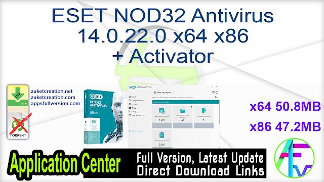 ESET NOD32 Antivirus 14.0.22.0 x64 + Activator