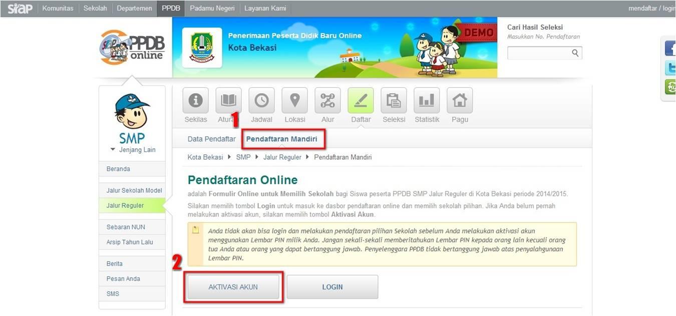 Cara Pendaftaran PPDB Online Kota Bekasi 2019/2020 ...