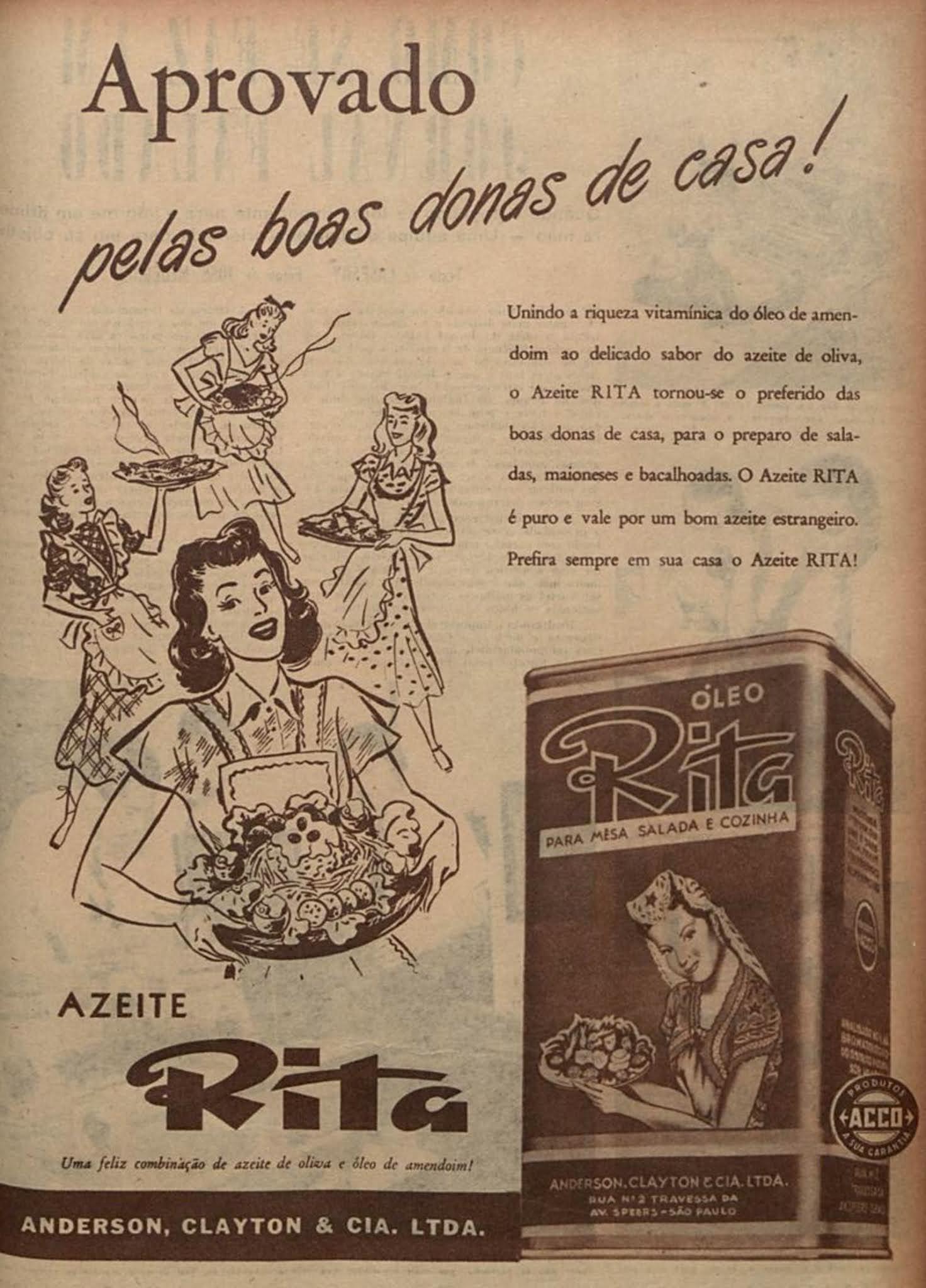 Propaganda antiga do Azeite Rita veiculado em 1949