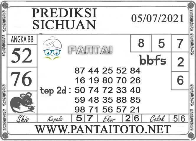 PREDIKSI TOGEL SICHUAN PANTAI4D 05 JULI 2021