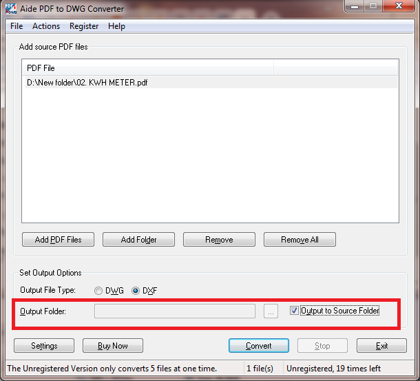Convert pdf ke autocad