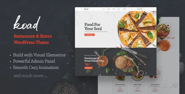 Best Restaurant & Bistro WordPress Theme