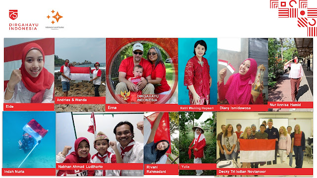 Some of the entries for photo competition during the virtual meet up of COLORFUL INDONESIA