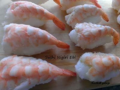 Sushi nigiri ebi
