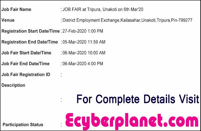 Unakoti job fair notification, notice