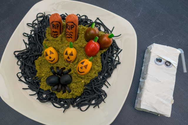Creepy Graveyard Halloween Pasta Recipe